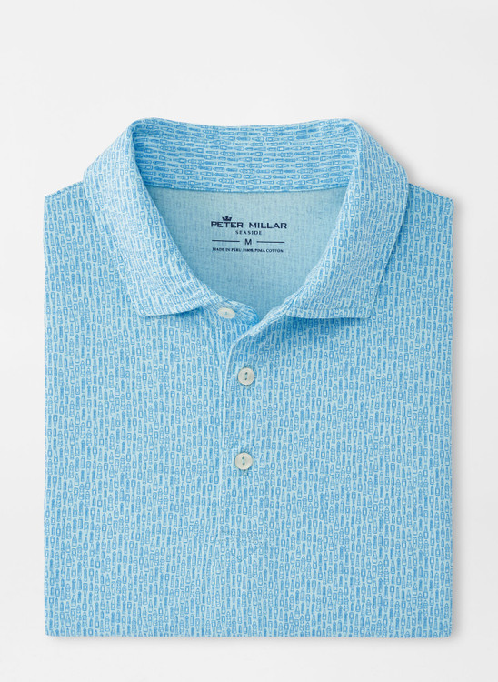 Lighthouse Brew Aqua Cotton Polo in Larimar by Peter Millar