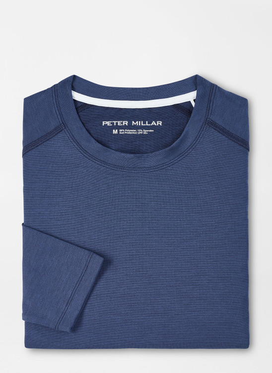 Apollo Performance Long-Sleeve T-Shirt in Navy by Peter Millar