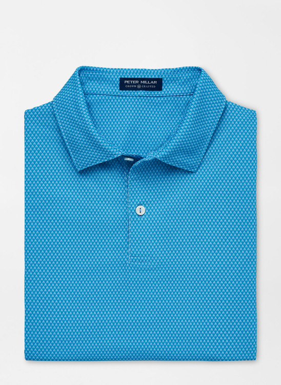 Spanish Performance Jersey Polo in Fountain Blue by Peter Millar
