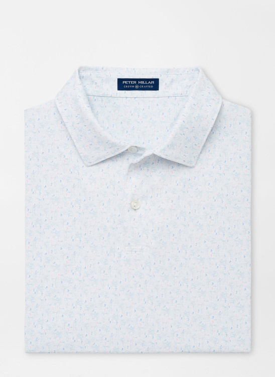 Pierre Performance Jersey Polo in White by Peter Millar