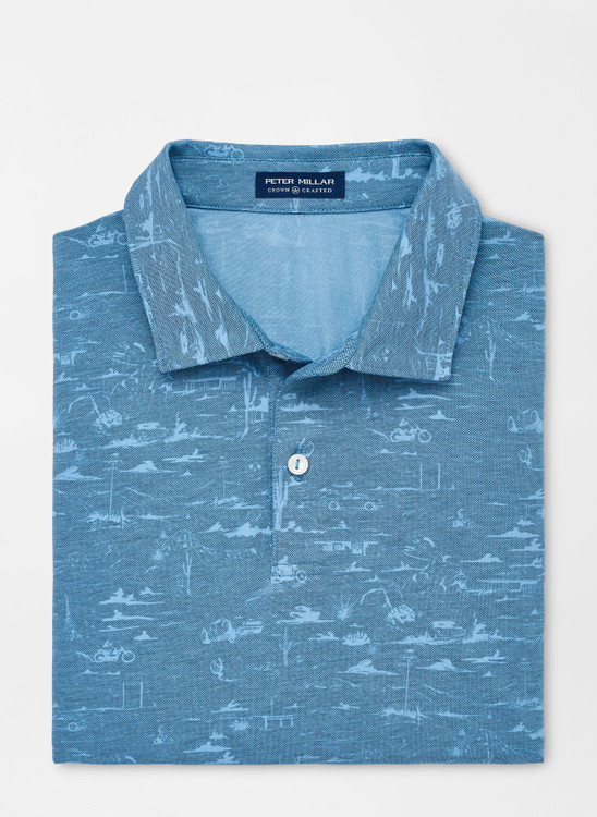 Ace Cotton-Blend Piqué Polo in Nightshade by Peter Millar