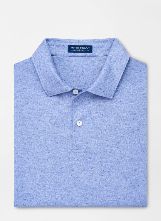 Solar Performance Polo in Port Blue by Peter Millar