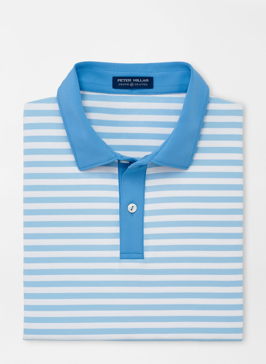 Bass Performance Jersey Polo in Blue Frost by Peter Millar