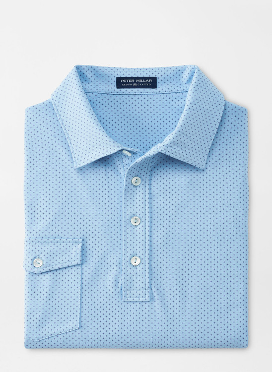 Starlight Performance Jersey Polo in Blue Frost by Peter Millar