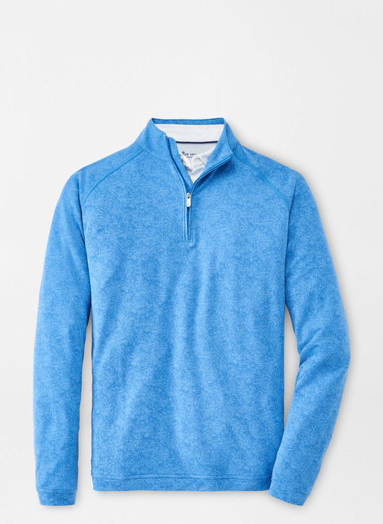 drirelease® Natural Touch Quarter-Zip in Plumbago by Peter Millar