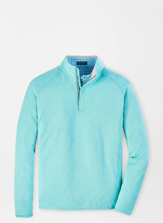 Stealth Performance Quarter-Zip in Bright Agave by Peter Millar