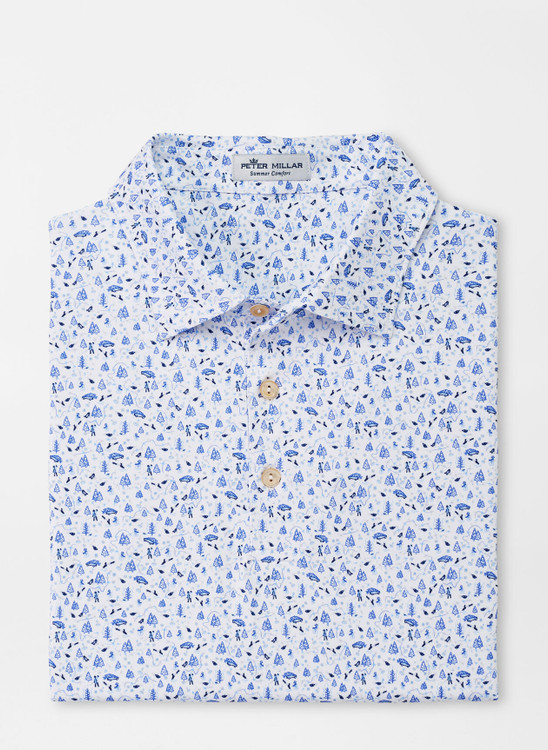 Sawyer Performance Jersey Polo in White by Peter Millar