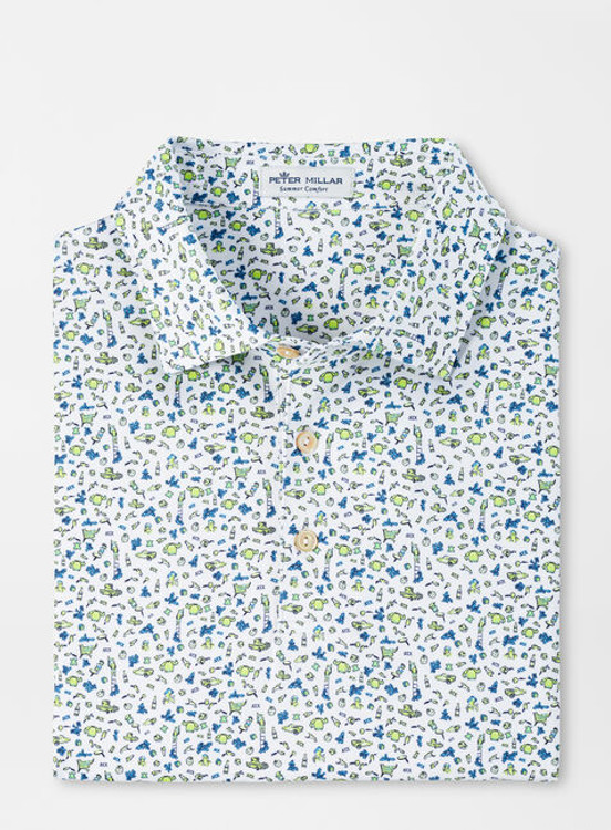 Mae Performance Jersey Polo in White by Peter Millar