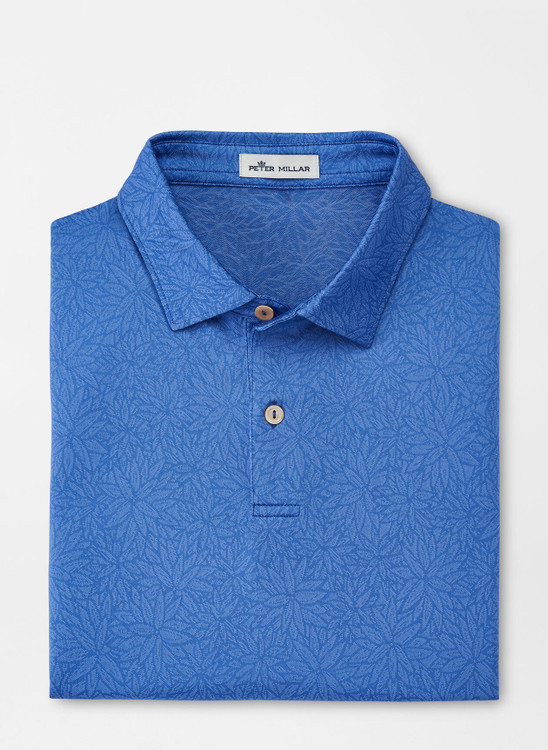 Daze Floral Performance Jacquard Polo in True Blue by Peter Millar