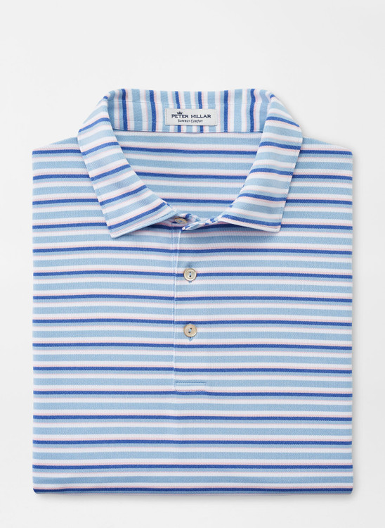 James Performance Mesh Polo in Cottage Blue by Peter Millar