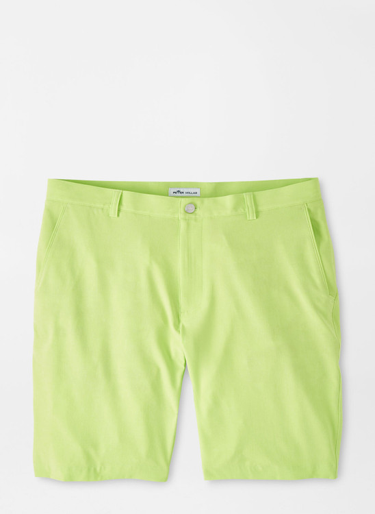 Shackleford Performance Hybrid Short in Lime Wedge by Peter Millar