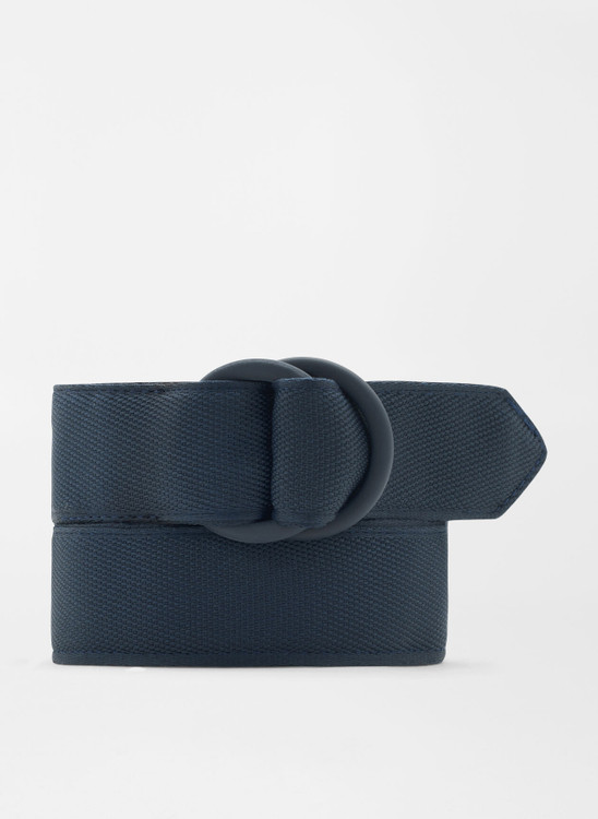 Crown Crafted Ribbon O-Ring in Navy Grey by Peter Millar