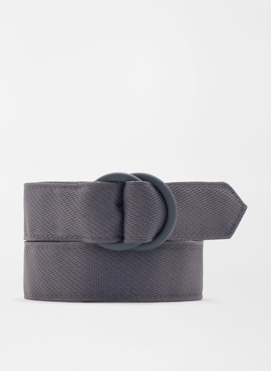 Crown Crafted Ribbon O-Ring in Steel Grey by Peter Millar