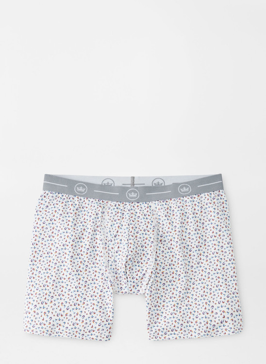 River Performance Boxer-Brief in White by Peter Millar