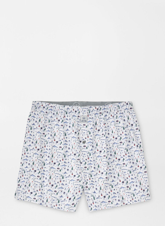 Maple Performance Boxer Short in White by Peter Millar