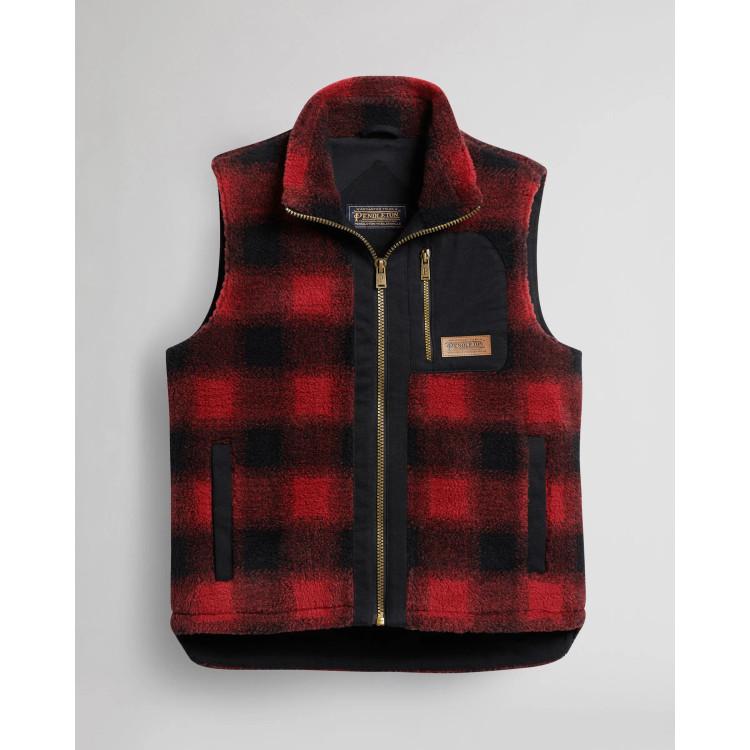 Men's Ridgeline Fleece Vest in Red Buffalo by Pendleton