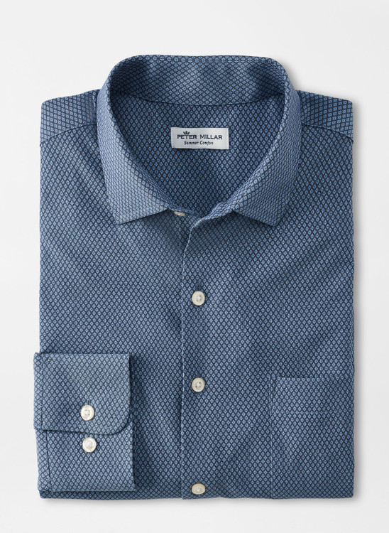 Mount Performance Twill Sport Shirt in Navy by Peter Millar