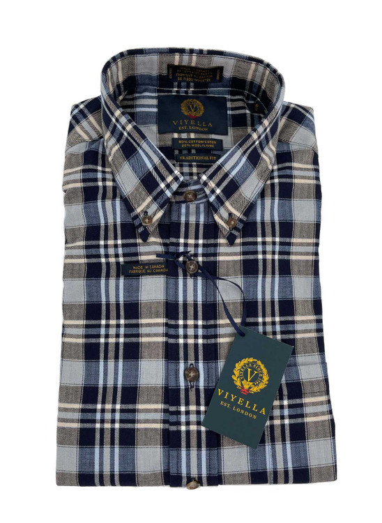 Maritime Plaid Button-Down Sport Shirt in Classic Fit by Viyella