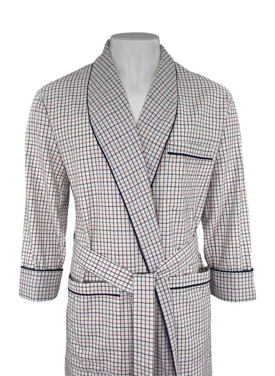 Gentleman's Genuine Cotton and Wool Blend Robe in Brown by Viyella