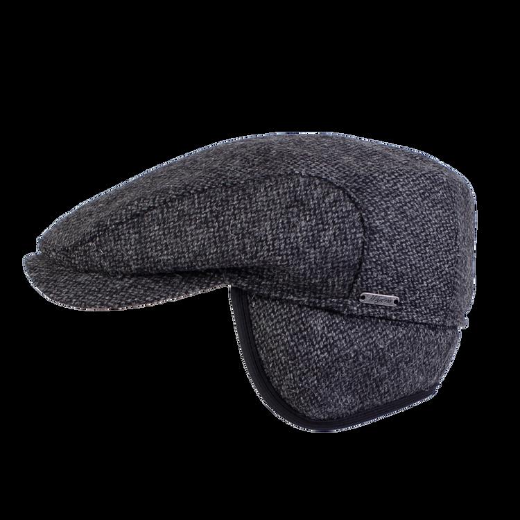 Goose Eye Wool Ivy Contemporary Cap in Dark Grey Melange by Wigens