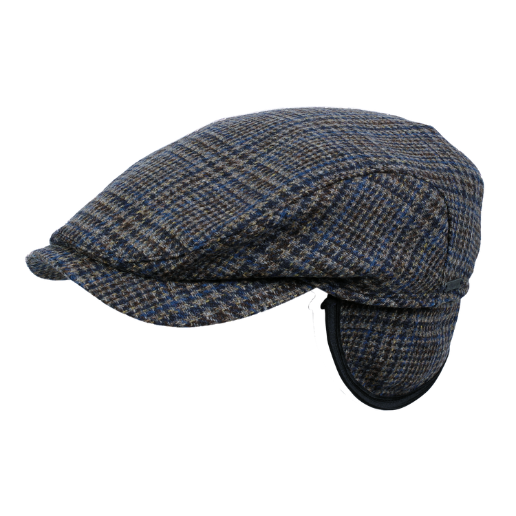 Colour Glencheck Ivy Contemporary Cap in Blue by Wigens