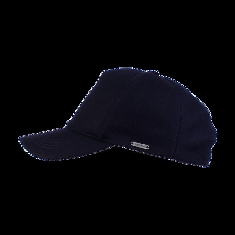 Melange Shetland Baseball Cap in Dark Blue by Wigens