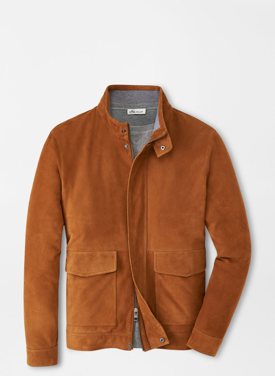 Suede Bomber Coat in Whiskey by Peter Millar