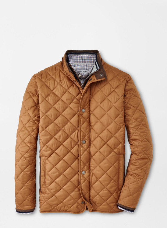 Suffolk Quilted Travel Coat in Hazelwood by Peter Millar