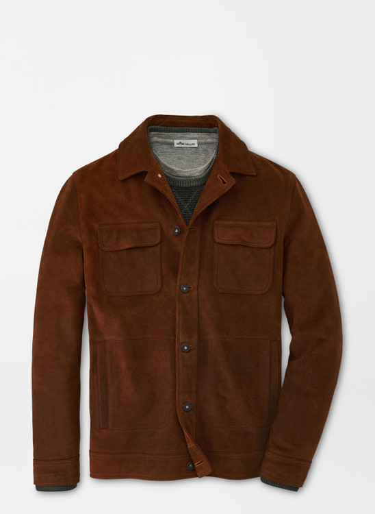 Rough Out Suede Jacket in Tobacco by Peter Millar