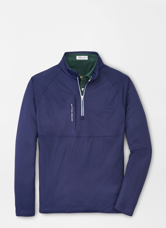Thermal Flow Insulated Quarter-Zip in Navy by Peter Millar