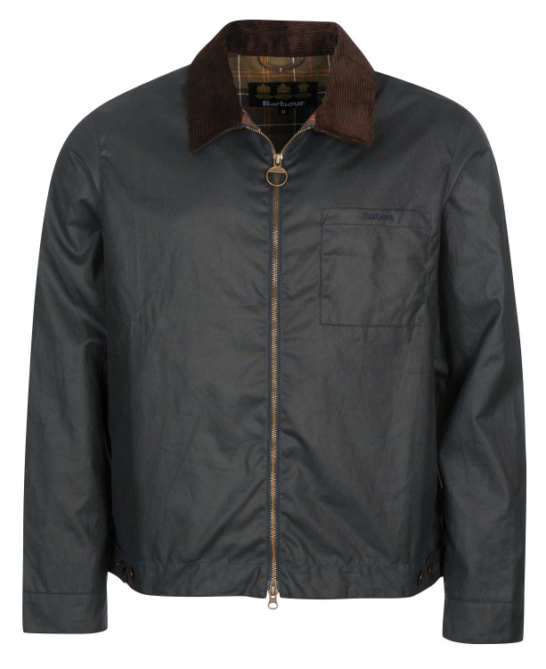 Imp Wax Jacket in Navy by Barbour