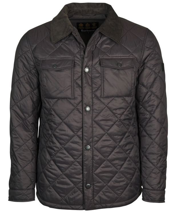 Shirt Quilted Jacket in Asphalt by Barbour