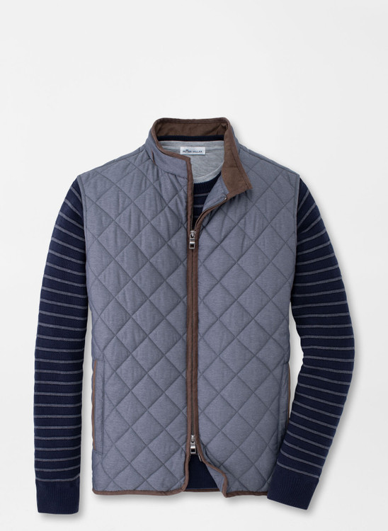 Essex Quilted Travel Vest in Iron by Peter Millar
