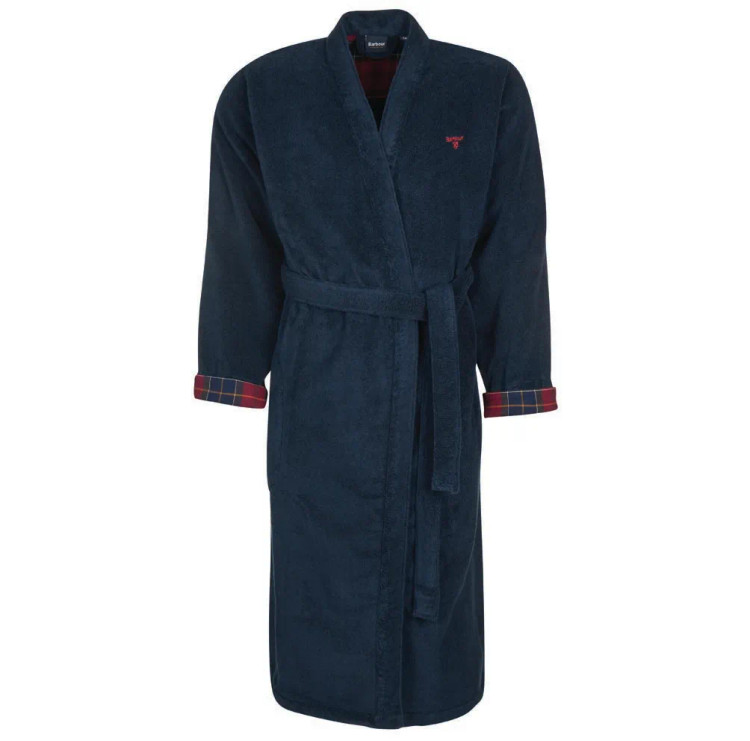 Lachlan Dressing Gown in Navy by Barbour