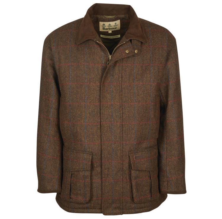 Penrith Wool Coat in Brown by Barbour
