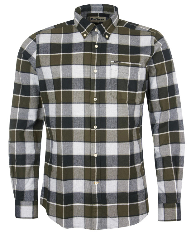 Valley Tailored Shirt in Olive by Barbour