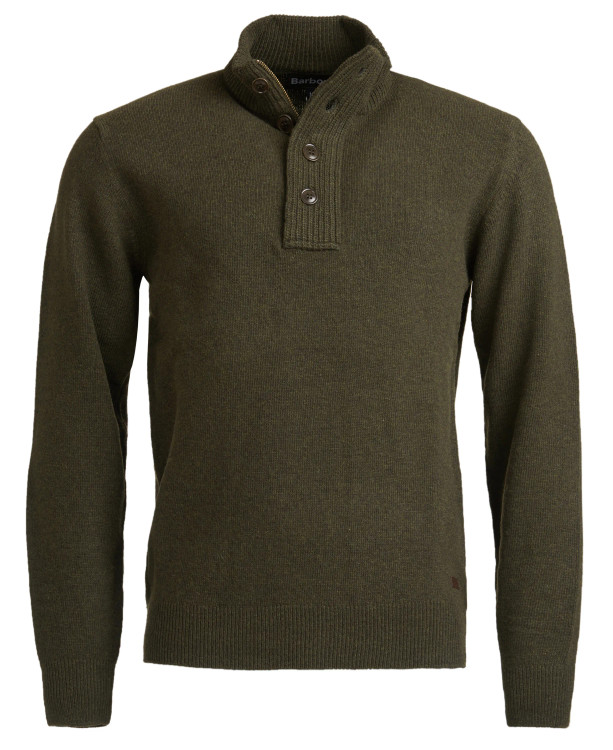 Patch Half-Zip Pullover Sweater in Seaweed by Barbour