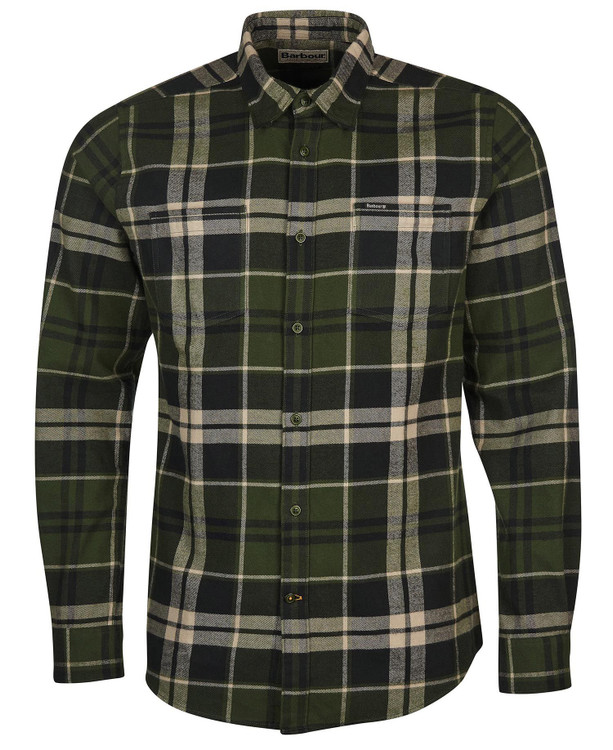 Bidston Tailored Shirt in Rifle Green by Barbour