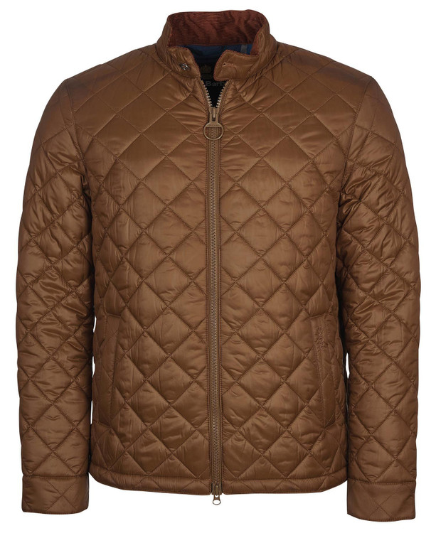 Harrington Quilted Jacket in Dark Sand by Barbour