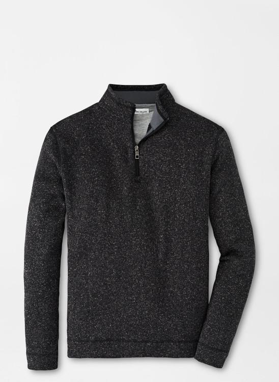 Crown Fleece Quarter-Zip Sweater in Black by Peter Millar