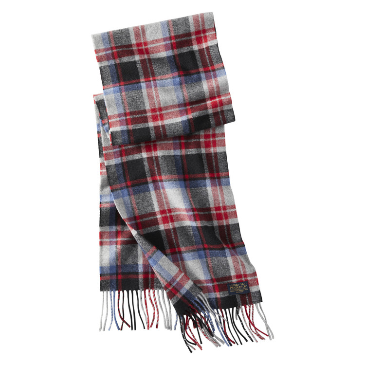 Whisperwool Muffler in Red, Blue and Grey by Pendleton