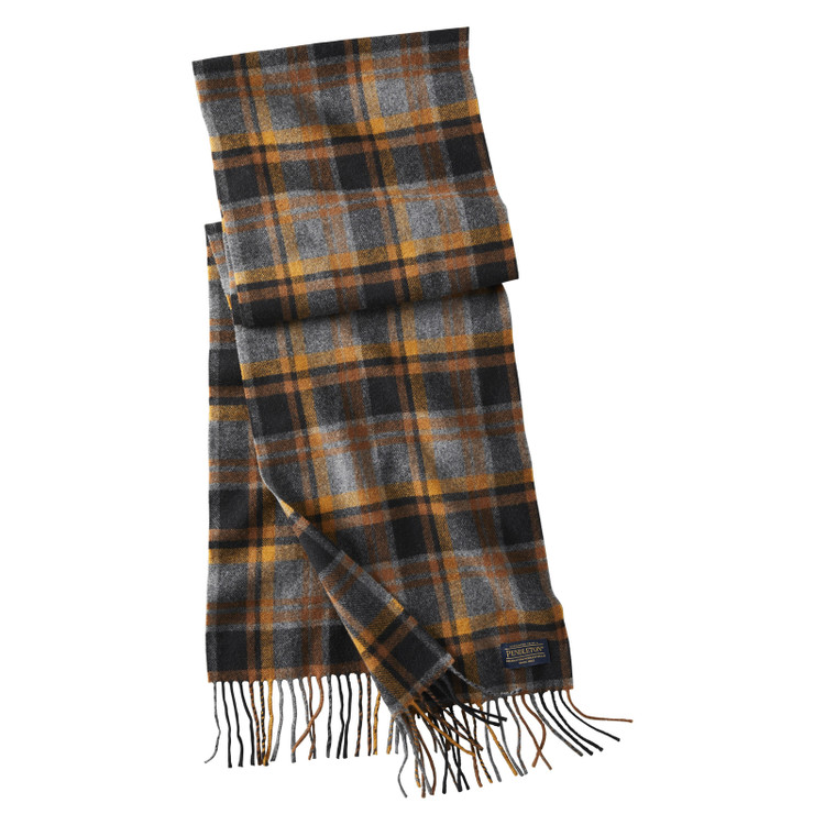 Whisperwool Muffler in Black, Grey and Gold by Pendleton