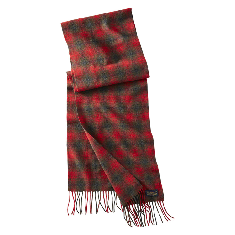 Whisperwool Muffler in Red and Grey Holiday by Pendleton