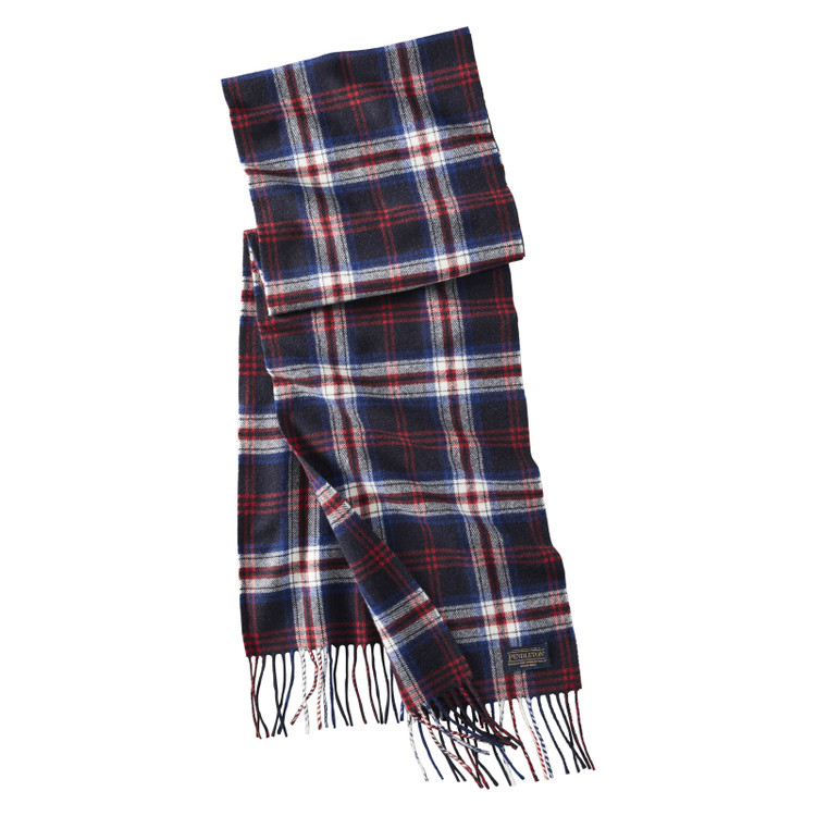 Whisperwool Muffler in Navy and Red by Pendleton
