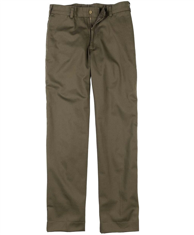 Original Twill Pant - Model M3 Trim Fit Plain Front in Mushroom by Bills Khakis