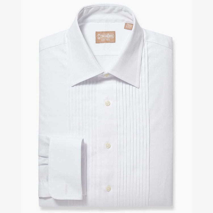 Ten Pleat Point Collar Formal Tuxedo Shirt by Gitman Brothers
