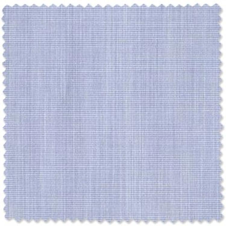 Light Blue End on End 'Sea Island Cotton' Broadcloth Dress Shirt (Size 16 1/2 - 34 3/4) by Skip Gambert