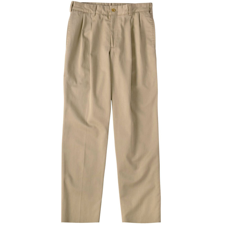 Original Twill Pant - Model M2P Standard Fit Reverse Pleat in Khaki by Bills Khakis