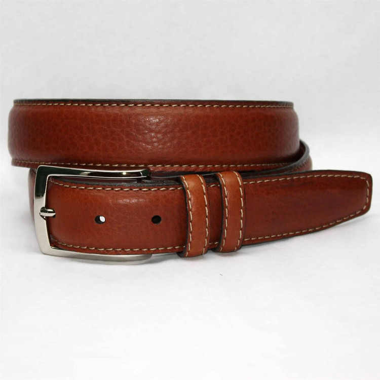 Genuine American Bison Leather Belt in Tan by Torino Leather Co.