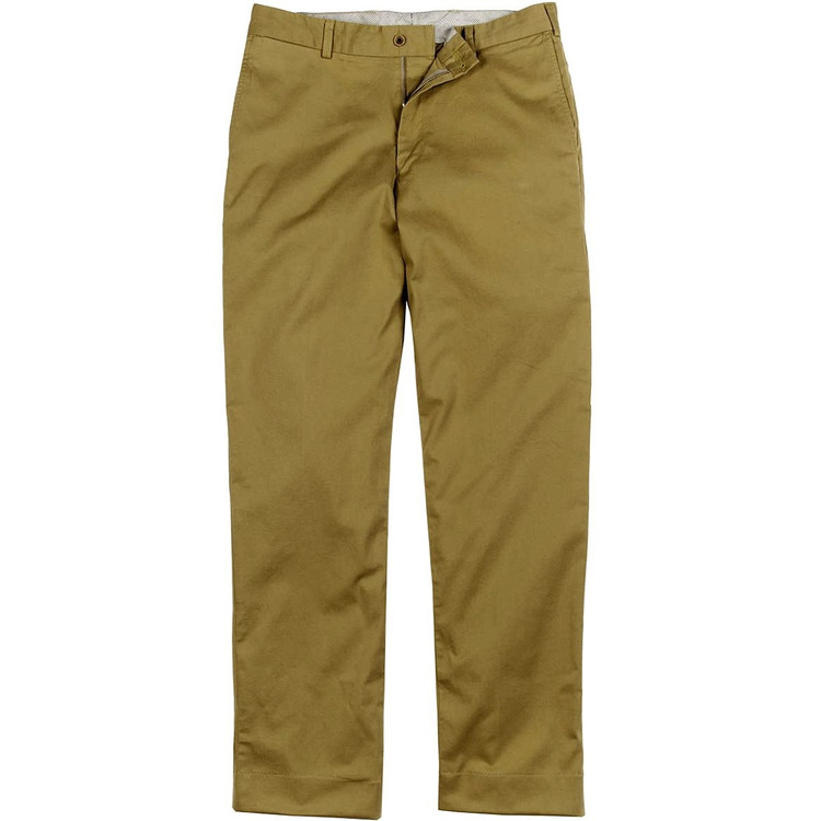 Engineered Stretch Twill Pant - Model M2 Standard Fit Plain Front in Buck by Bills Khakis